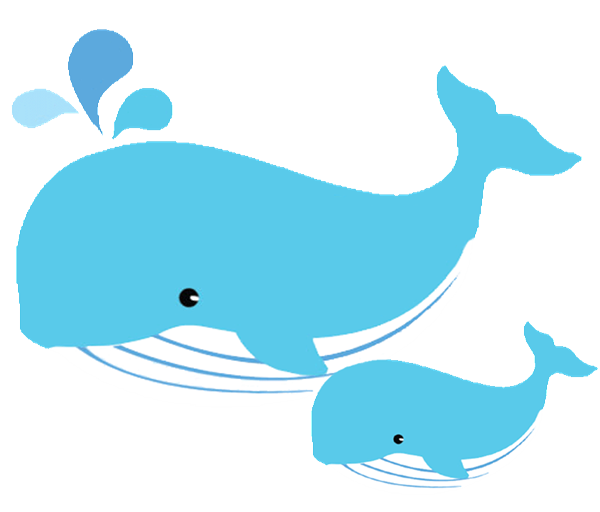 Whale pic clipart jpg freeuse library Mom and baby whale clipart | Whales | Baby whale, Whale ... jpg freeuse library