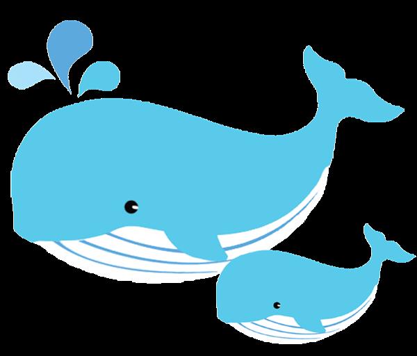 W whale clipart image transparent stock Mom and baby whale clipart | Whales | Baby whale, Whale ... image transparent stock