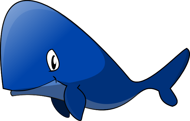 Whale fish clipart