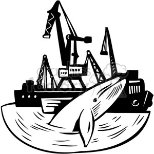Whaling ship clipart clipart royalty free download whales swimming by oil rigs clipart. Royalty-free clipart # 386115 clipart royalty free download