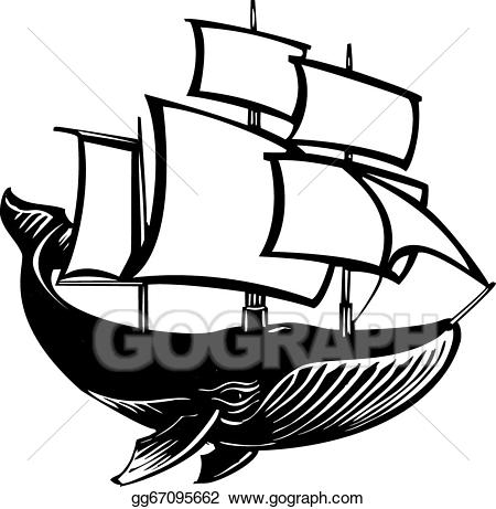Whaling ship clipart svg royalty free stock Vector Clipart - Sail whale. Vector Illustration gg67095662 ... svg royalty free stock