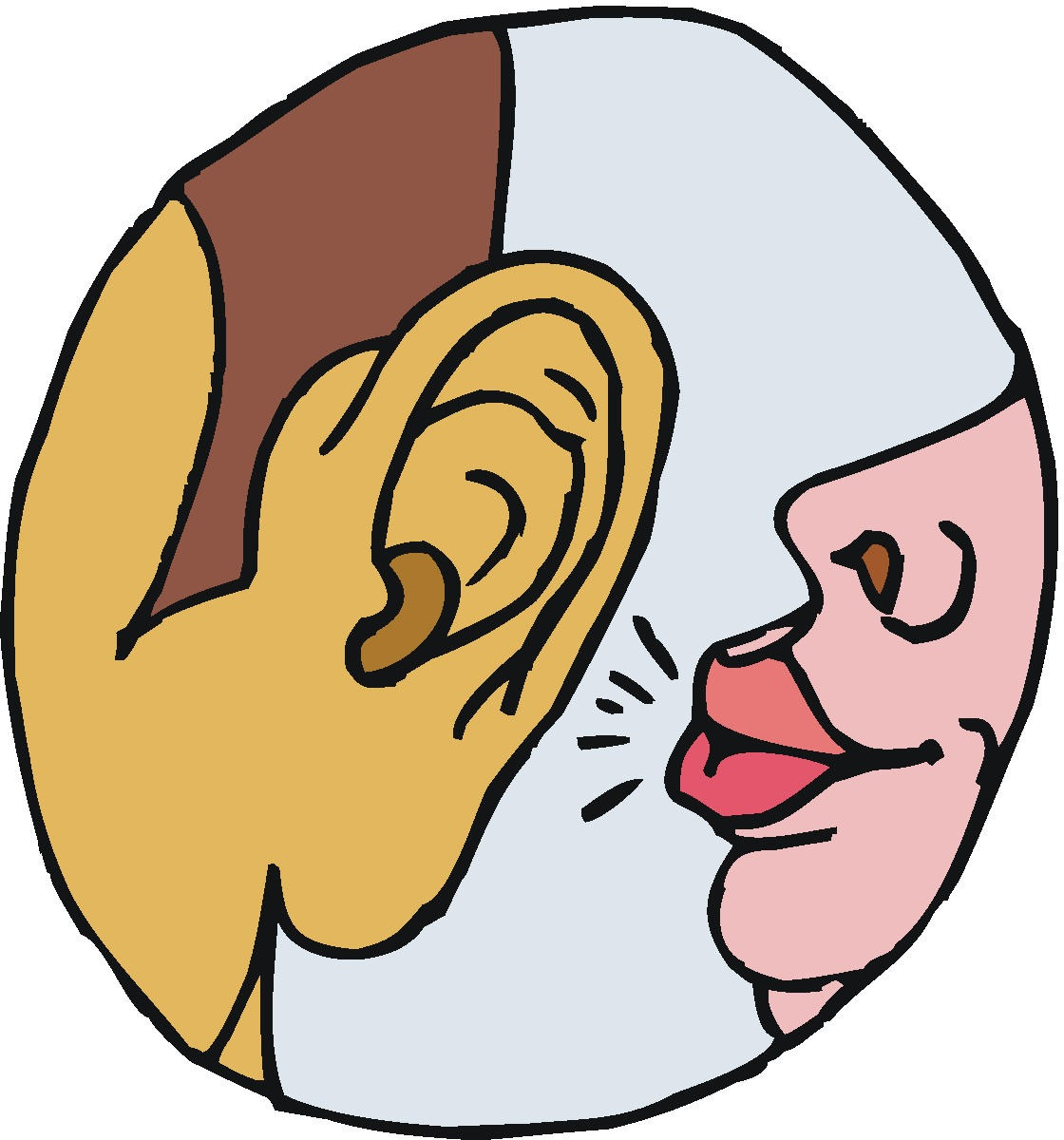 Hearing images clipart clipart black and white library Hearing Clipart Clipart Kid - Free Clipart clipart black and white library