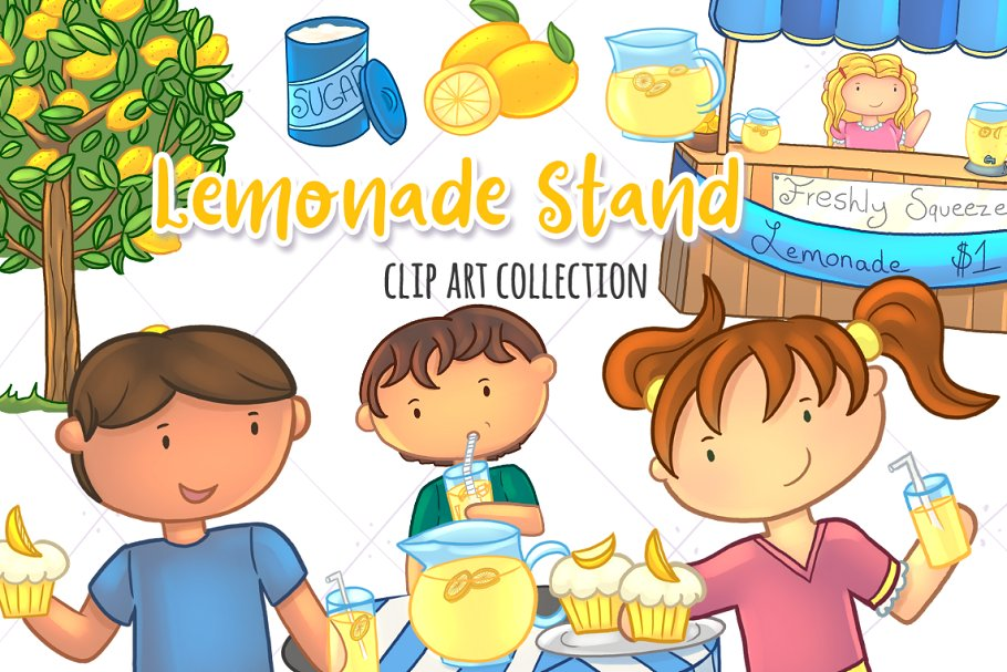 What does clipart stand for picture Lemonade Stand Clip Art Set picture