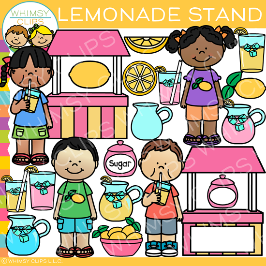 What does clipart stand for freeuse download Fun Summer Lemonade Stand Clip Art freeuse download