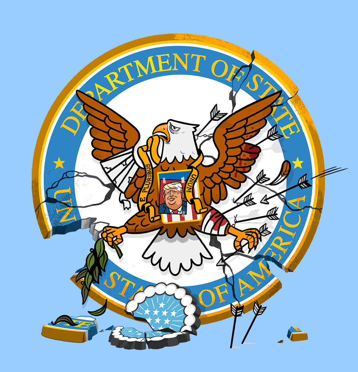 What does the department of state do clipart black and white How the Trump Administration Broke the State Department ... black and white