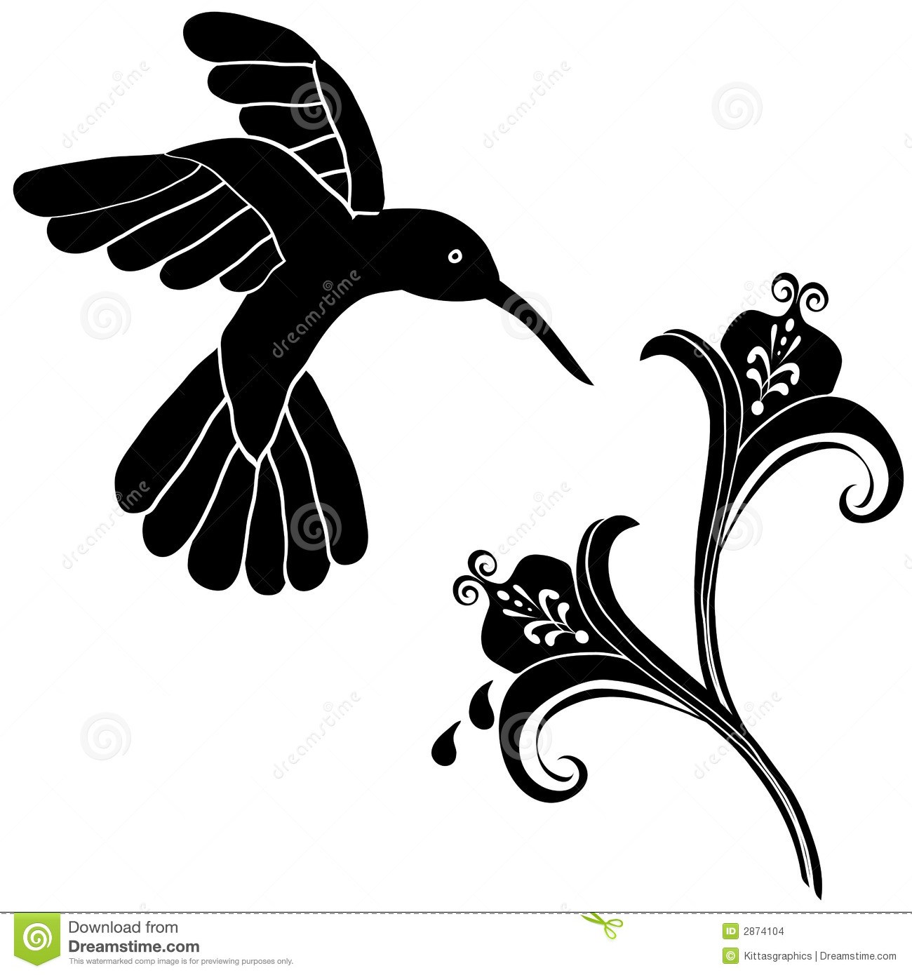 Hummingbird with flower clipart vector free stock Hummingbird and flower clipart 5 » Clipart Portal vector free stock