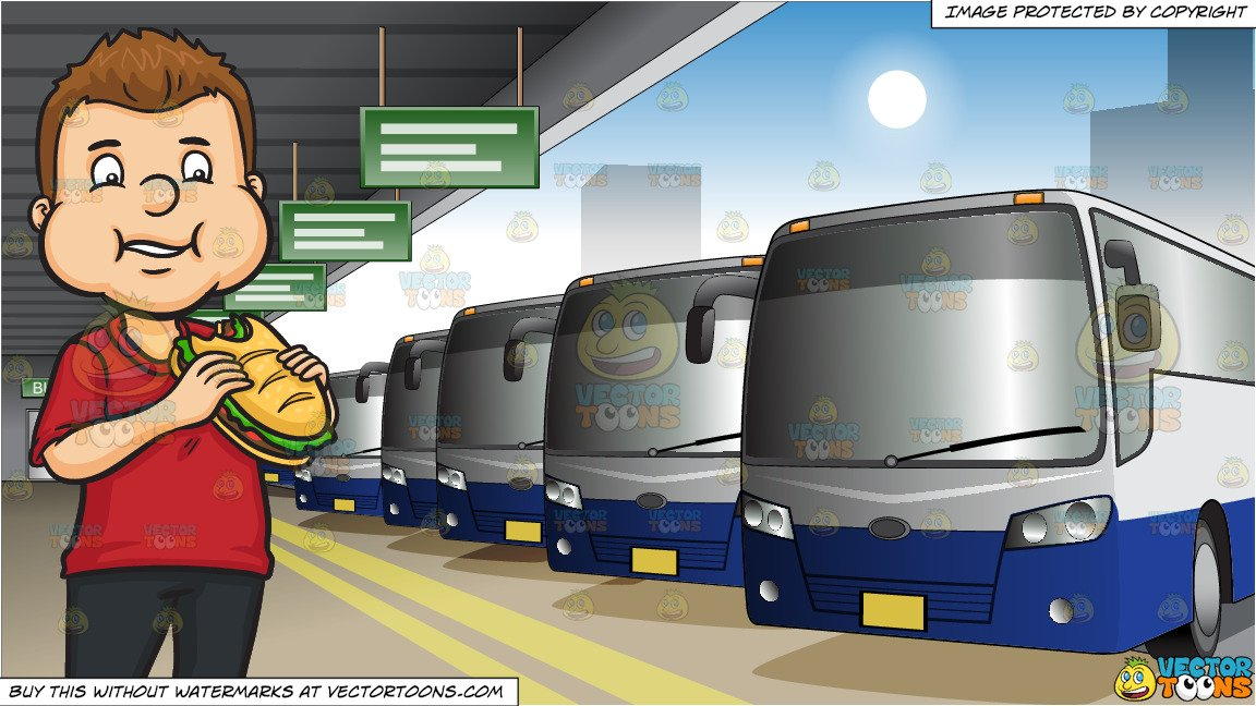 What goes into a sandwhich bus clipart