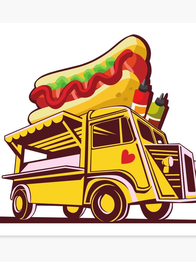 What goes into a sandwhich bus clipart clip art transparent library Hot Dog Bus, Foot Truck   Canvas Print clip art transparent library