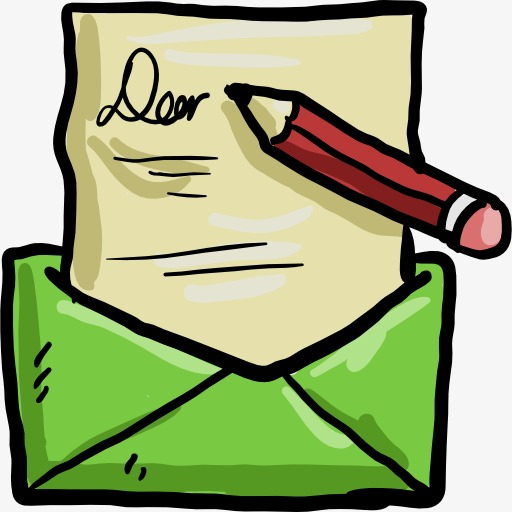 Library of writing a letter clipart royalty free png files ...