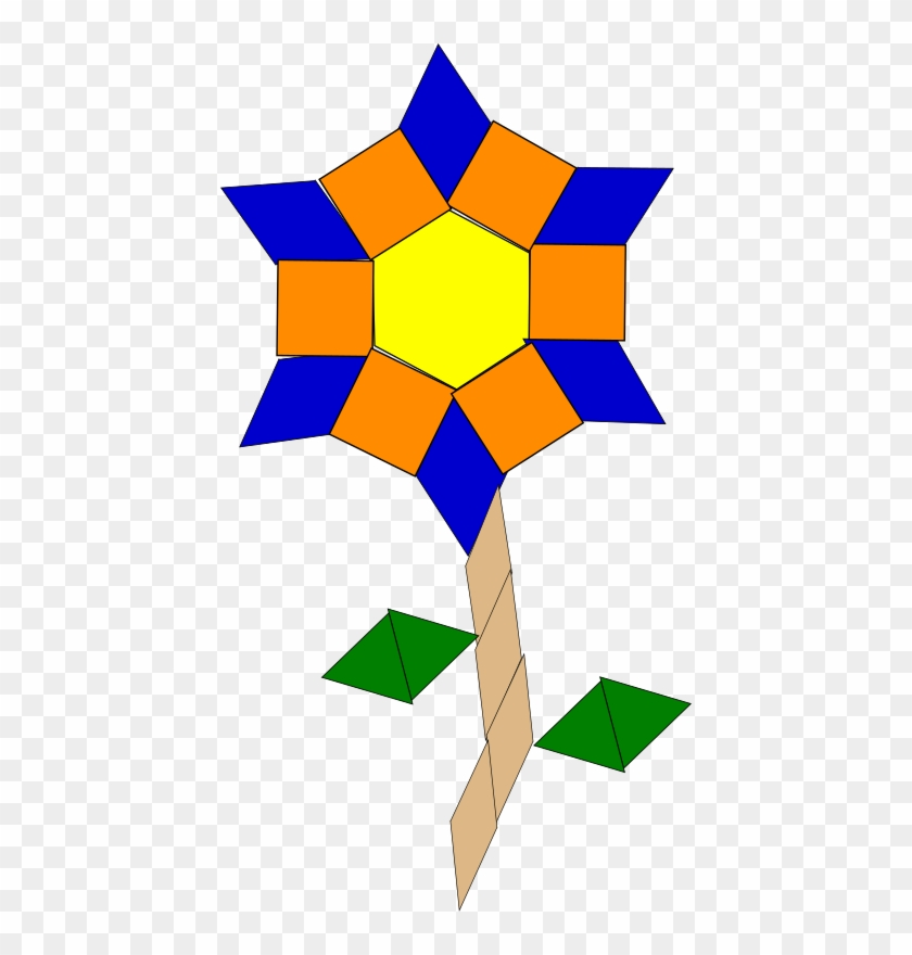 What is it made out of clipart picture library stock Flower Blossom Geometric Shapes Clipart - Art Made Out Of ... picture library stock