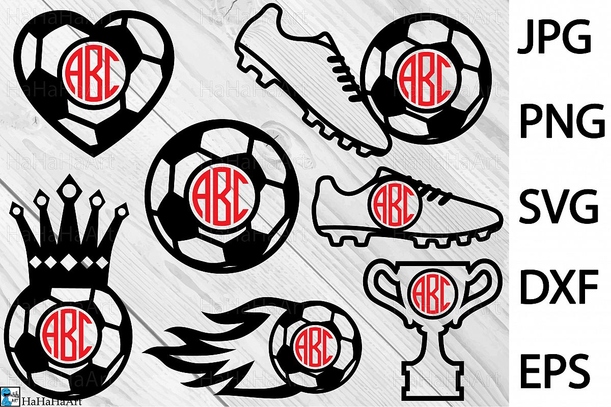 What is the difference between jpg and clipart files clip Monogram Soccer - Clip art Cutting Files 290c clip