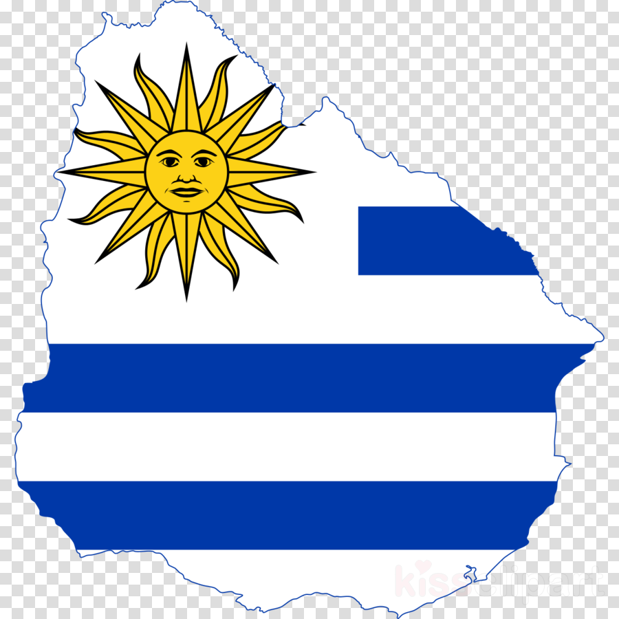 What is the flag of uruguay clipart