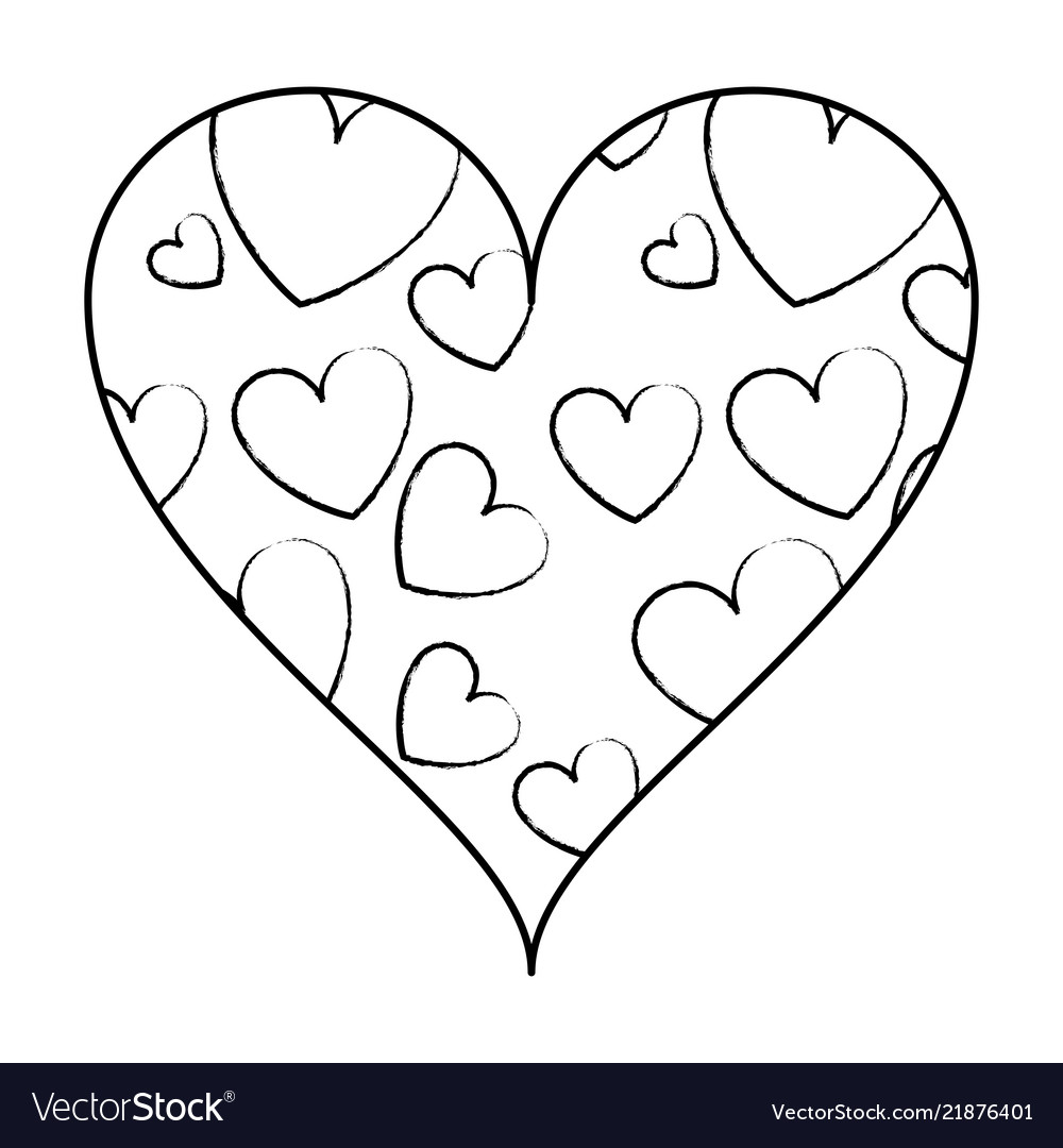 Whats inside the heart clipart banner royalty free download Hearts inside heart frame sketch banner royalty free download