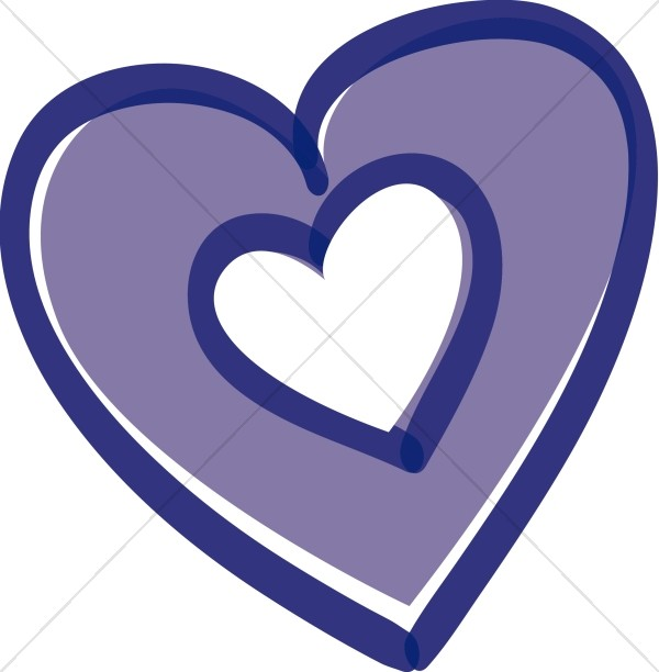 Whats inside the heart clipart png transparent Purple Heart with Heart Inside | Christian Heart Clipart png transparent