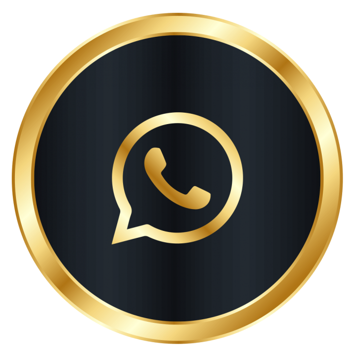 Whatsapp gold icon clipart banner black and white library Luxury Whatsapp Icon PNG Image Free Download searchpng.com banner black and white library