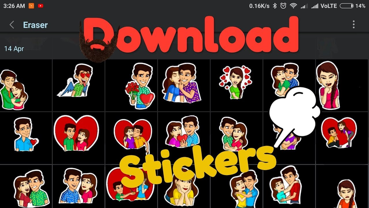 Whatsapp status sticker clipart svg royalty free library How to download sticker for whatsapp status(Editing) || by Every Things svg royalty free library