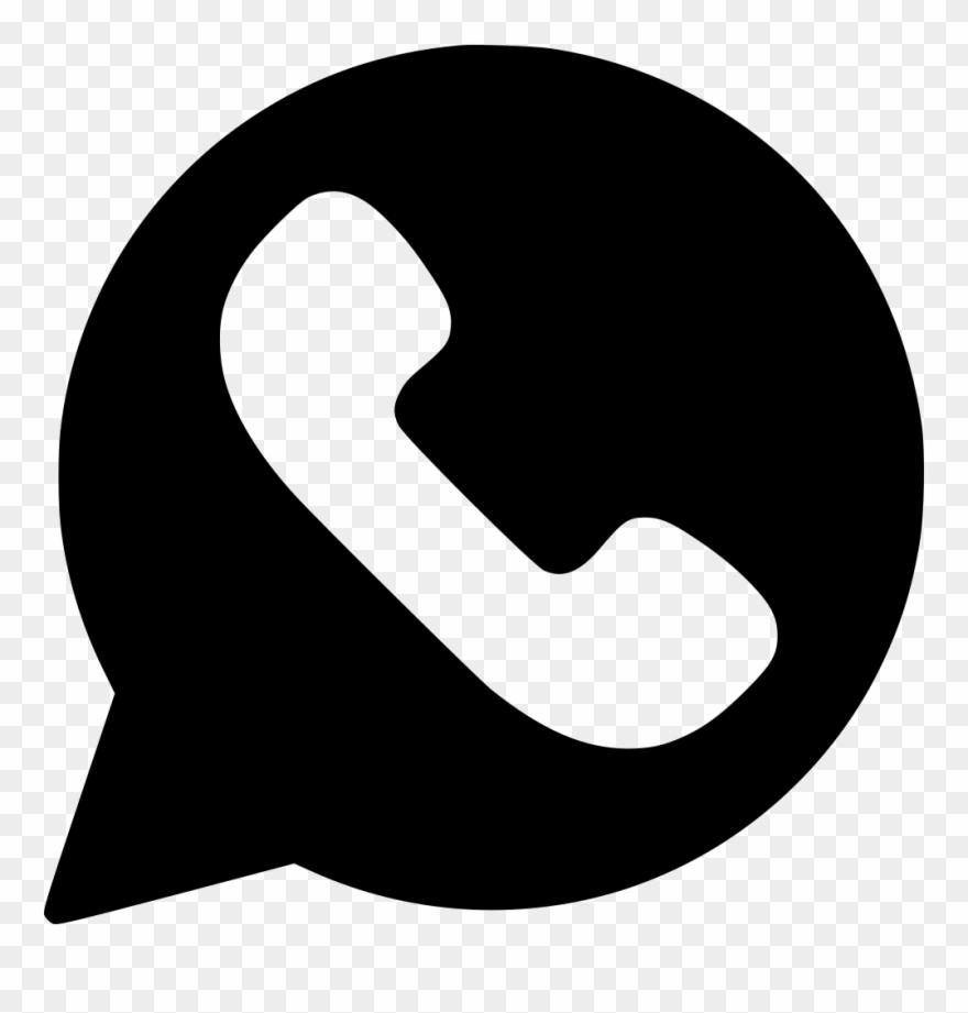 Whatsapp vector clipart image transparent library Whatsapp Logo Transparent Png - Whatsapp Logo Vector Black ... image transparent library