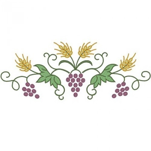 Wheat and grapes clipart picture freeuse stock BRANCH WITH GRAPES AND WHEAT 30 CM picture freeuse stock
