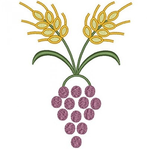 Wheat and grapes clipart image freeuse library GRAPES WITH WHEAT 12 CM image freeuse library