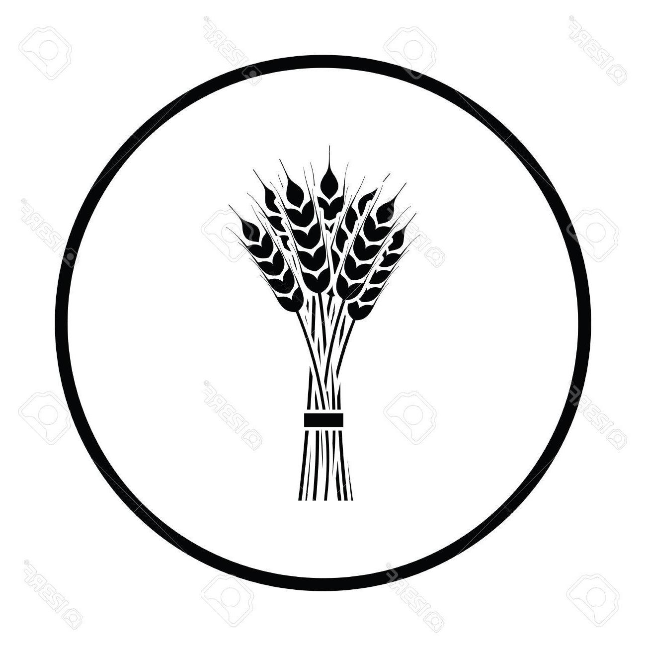 Wheat bundle clipart vector free download Best Wheat Bundle Black And White Vector Design » Free ... vector free download