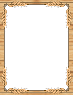 Wheat clipart border jpg download Wheat Border | Borders, Frames & Backgrounds | Page borders ... jpg download