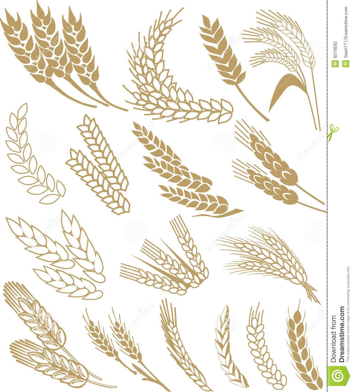 Wheat clipart vector clip art black and white library Wheat Vector - Download From Over 59 Million High Quality ... clip art black and white library