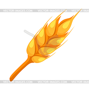 Wheat spike clipart svg freeuse Wheat spike icon - vector clip art svg freeuse