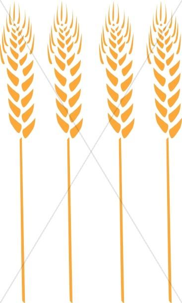 Wheat stalk clipart clip freeuse stock Four Wheat Stalks   Thanksgiving Clipart clip freeuse stock