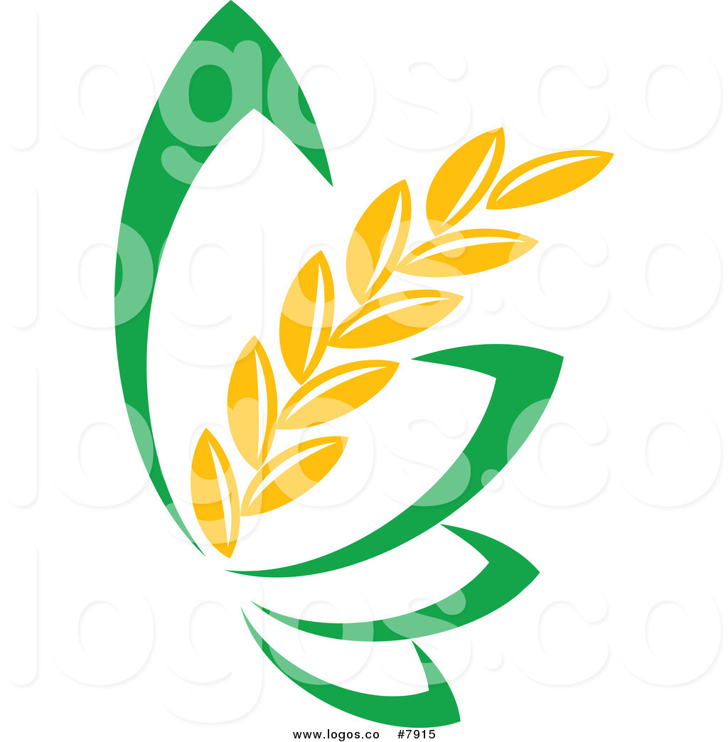 Wheat strand clipart black and white library Royalty Free Clip Art Vector Strand of Wheat and Green ... black and white library