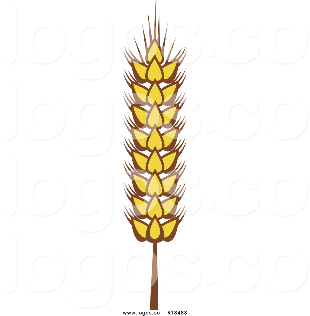 Wheat strand clipart clipart transparent library Royalty Free Vector Logo of a Strand of Wheat by Vector ... clipart transparent library