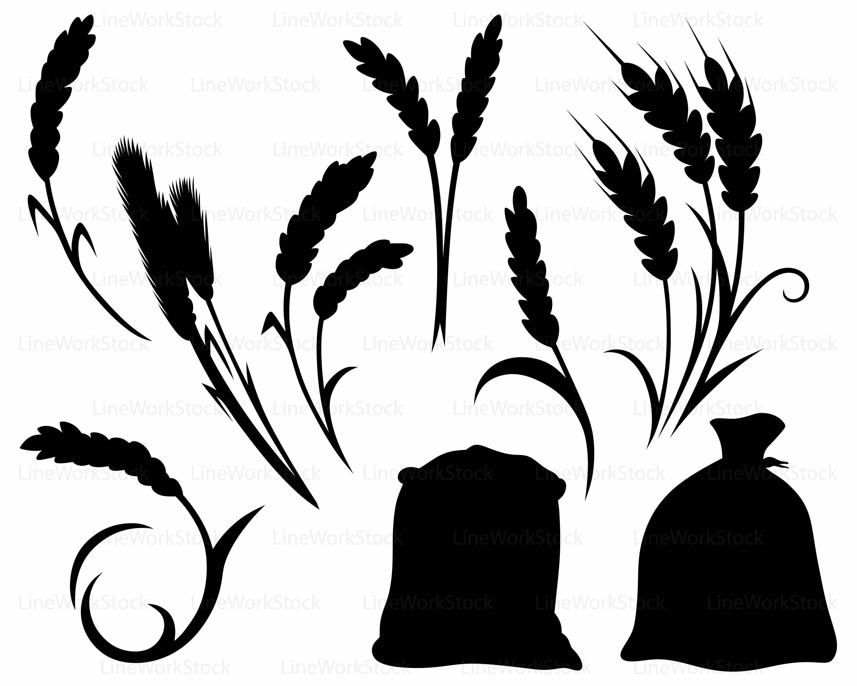 Wheat strand clipart jpg royalty free library Wheat Clipart | Free download best Wheat Clipart on ... jpg royalty free library