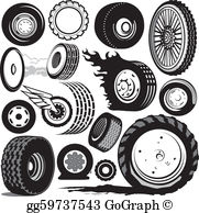 Wheel and tires clipart free picture freeuse Tire Clip Art - Royalty Free - GoGraph picture freeuse