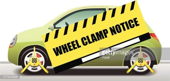 Wheel clamp clipart graphic library stock Car Wheel Clamp Notice premium clipart - ClipartLogo.com graphic library stock