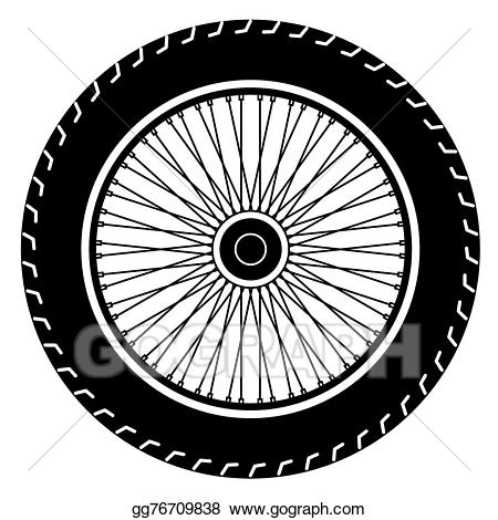 Motorcycle wheel clipart image library stock Vector Art - Motorcycle wheel vector. EPS clipart gg76709838 ... image library stock