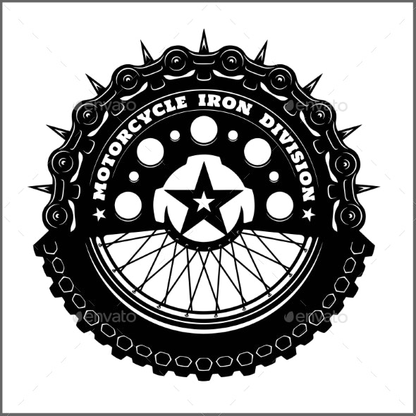 Wheel clipart motercycle black and white download Motorcycle Wheel and Chain - Motorcycle Vector black and white download