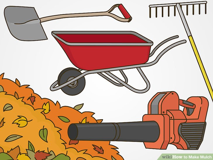 Wheelbarrow with mulch clipart clip library stock How to Make Mulch: 13 Steps (with Pictures) - wikiHow clip library stock