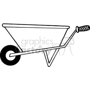 Wheelbarrow with tools clipart picture royalty free stock wheelbarrow clipart - Royalty-Free Images | Graphics Factory picture royalty free stock