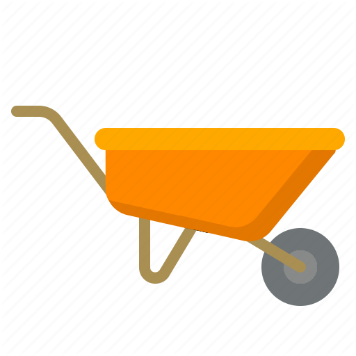 Wheelbarrow with tools clipart graphic transparent library \'Construction Flat Colors\' by kerismaker graphic transparent library