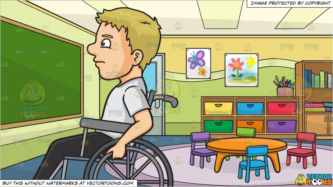 Wheelchair classroom images clipart png download A Man In A Wheelchair and Inside A Kindergarten Classroom Background png download