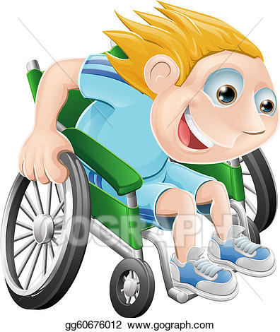 Wheelchair racing clipart graphic free library Vector Art - Wheelchair racing cartoon man. Clipart Drawing ... graphic free library