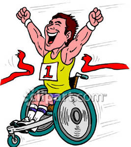 Wheelchair racing clipart banner free download Winner of a Wheelchair Race - Royalty Free Clipart Picture banner free download