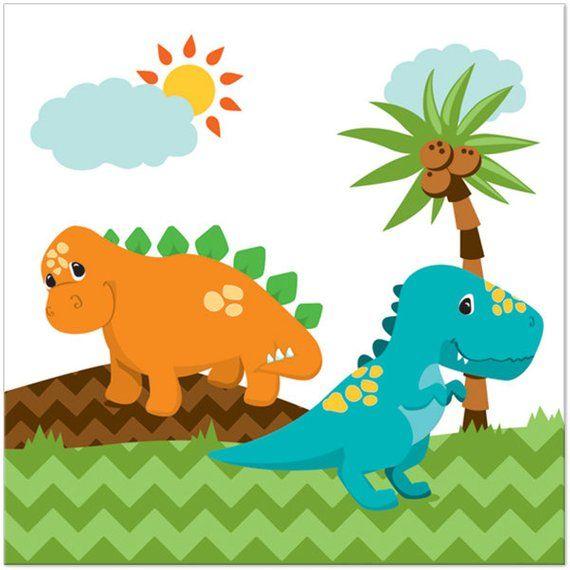 When dinosaurs ruled the world banner clipart pinterest clipart freeuse download Little Dinosaur Party Paper Napkins/ Dino Lunch Napkins ... clipart freeuse download