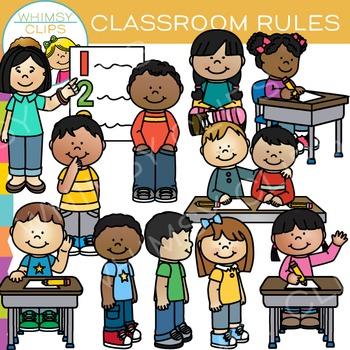 Where do you get clipart for teachers pay teachers svg royalty free Classroom Rules Clip Art by Whimsy Clips | Teachers Pay Teachers svg royalty free