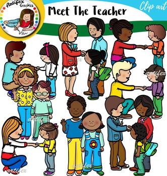 Where do you get clipart for teachers pay teachers jpg transparent Meet The Teacher Clip Art Set jpg transparent