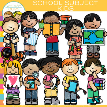 Where do you get clipart for teachers pay teachers freeuse library Kids School Subjects Clip Art by Whimsy Clips | Teachers Pay ... freeuse library