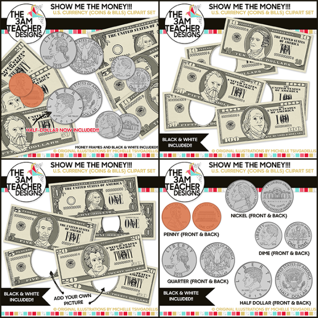 Where is clipart money printed banner free library U.S. Currency : Money and Coin Digital Clip Art banner free library