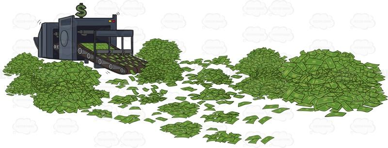 Where is clipart money printed vector transparent stock Money Printing Press vector transparent stock