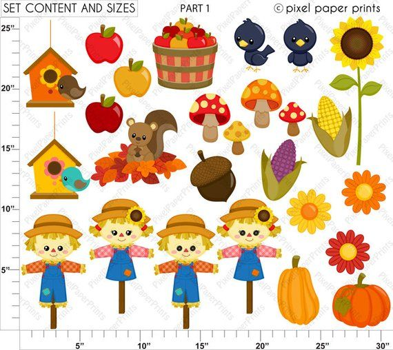 Where is the clipart found in photoshop elements picture free stock Cute Autumn Elements - Fall Clipart - Clip Art and Digital ... picture free stock