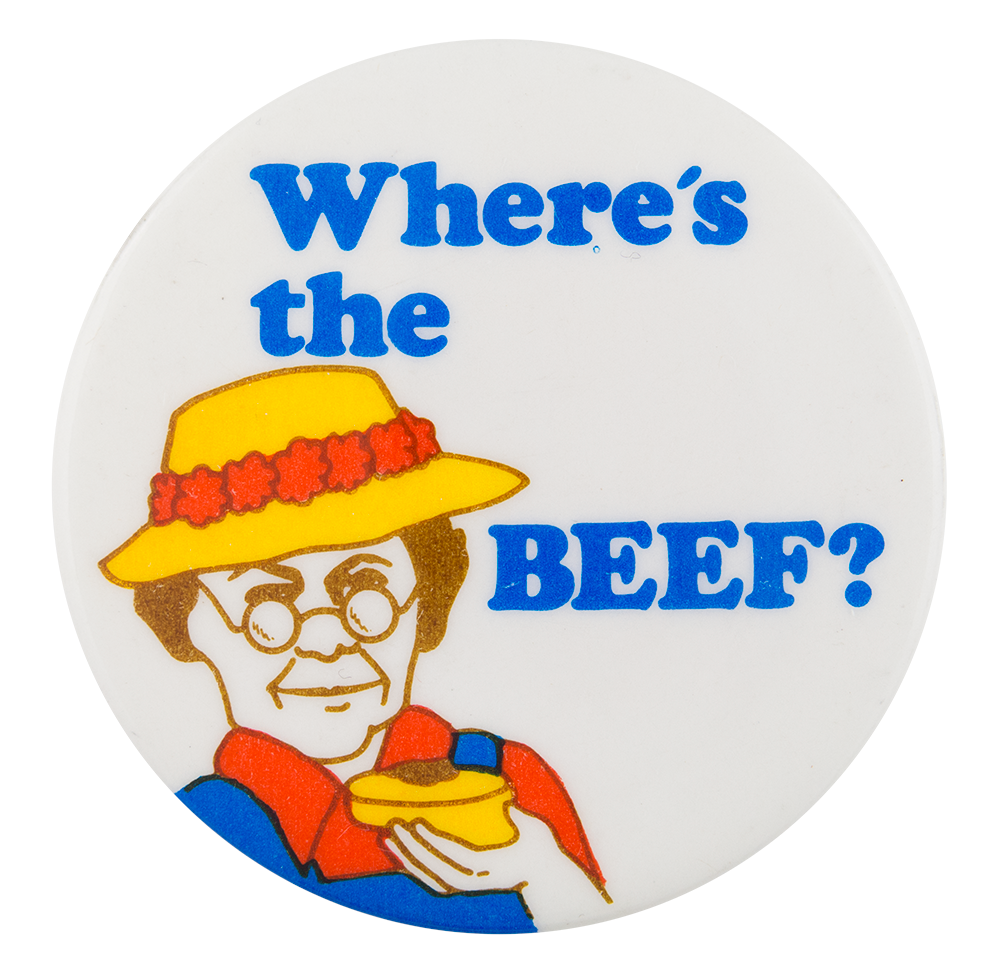 Where s the beef clipart clipart library library Where\'s the Beef | Busy Beaver Button Museum clipart library library