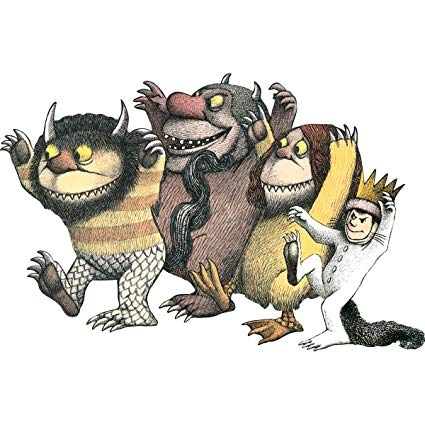 Where the wild things are max clipart png black and white library Paper House Productions PUZ-4001E Floor Puzzle, Where the Wild Things Are png black and white library